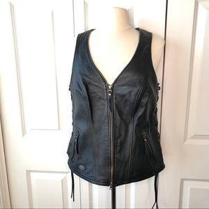 Harley-Davidson Leather Vest -L